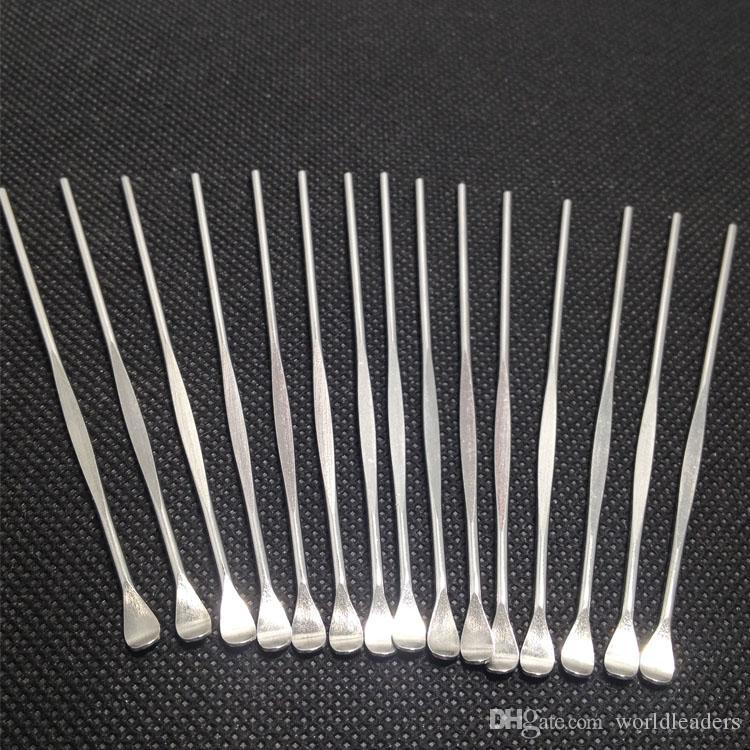 Edelstahl E Zigarette Dabber Werkzeug Titan Dab Nagel für Wachs trockenes Kraut Glas vor g5 Vgo Pfanne Mikro Zerstäuber g Vaporizer Stift frei