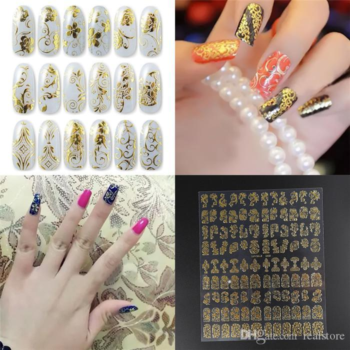 Hot Seller Women\'S Lady\'S On A Paper Flower 3d Nail Art Stickers ...