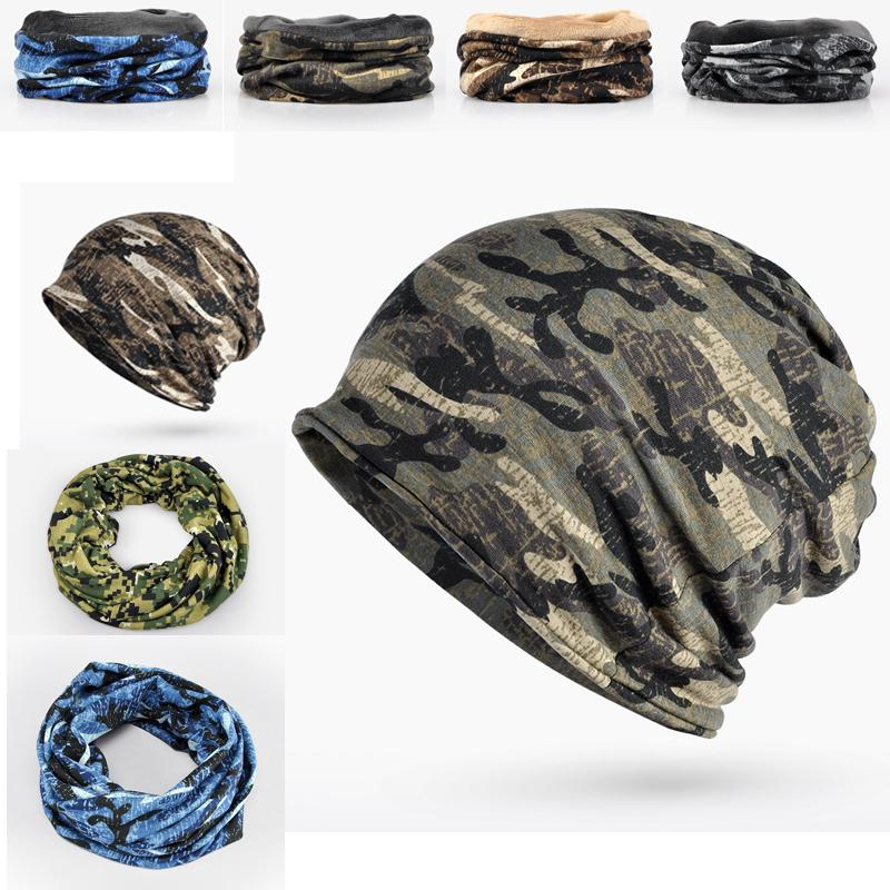 c35ea3df3c286 2019 Fleece Autumn Winter Hat Men Women Tactical Military Army Camouflage  Beanies Knitted Cotton Skullies Thermal Scarf Camo Cap From Wanjia55