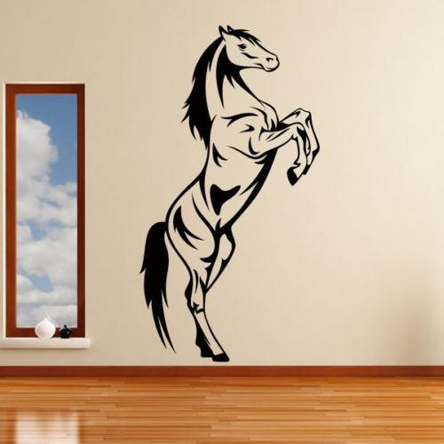 horse rearing wall art sticker decal home decoration wall mural