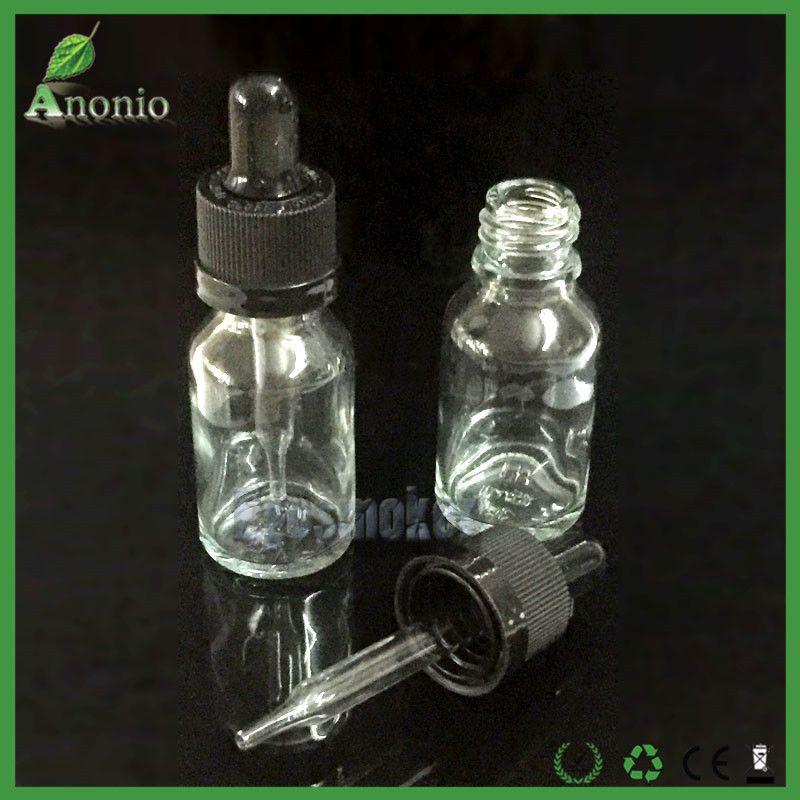 Wholsale Glass Bottles E Cigarette Liquid Bottles 5ml 10ml 15ml 30ml 50ml Glass Dropper Bottles with Childproof Cap Ejuice Bottles