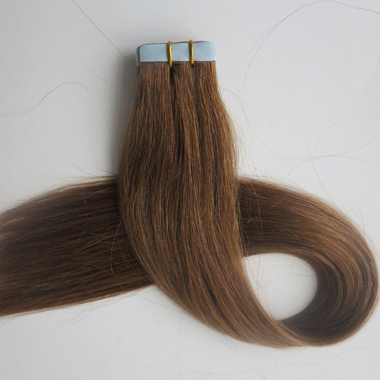 Top Quality 50g Tape In Hair Extensions 18 20 22 24inch 8light