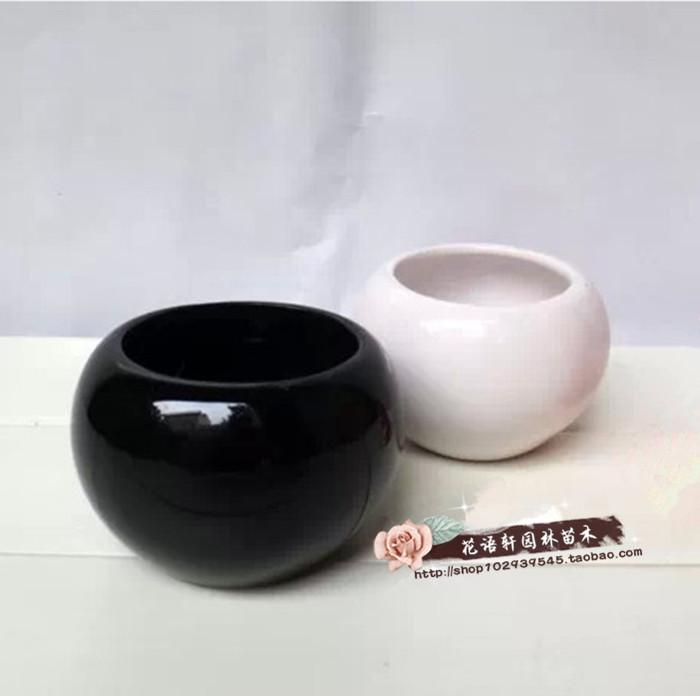 Small round ceramic flower pot black white flower wholesale flower small round ceramic flower pot black white flower wholesale flower small vase home decor minimalist crafts online with 6536piece on xwt5242s store mightylinksfo