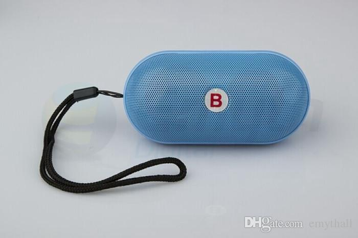 DHL Bass B Small Pill Portable MINI Bluetooth Wireless Speaker Cannon MP3 Player MIC Hand-free TF Card USB for smart phone