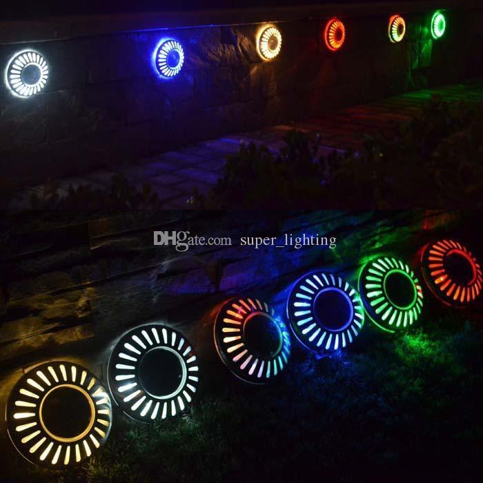 Водонепроницаемый солнечный свет лампы 6 шт. светодиоды сад свет открытый газон огни настенные светильники на солнечных батареях светодиодные бра НЛО форма