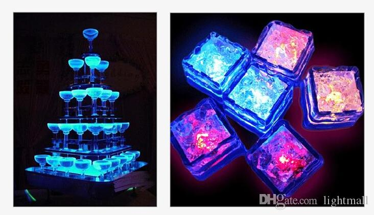 changing Light up LED Ice Cubes Glow Ice Cubes for wedding decoration novelty party