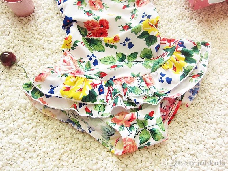 Çocuklar Mayo 2018 yaz yeni Çin tarzı tek parça çocuk kaplıcalar mayo moda baskı çocuklar plaj mayo 1-8age ab899