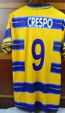 2ba97cb82b0 Retro Jersey 1998 98 99 Parma Crespo  Buffon  Veron  Thuram   Fabio ...
