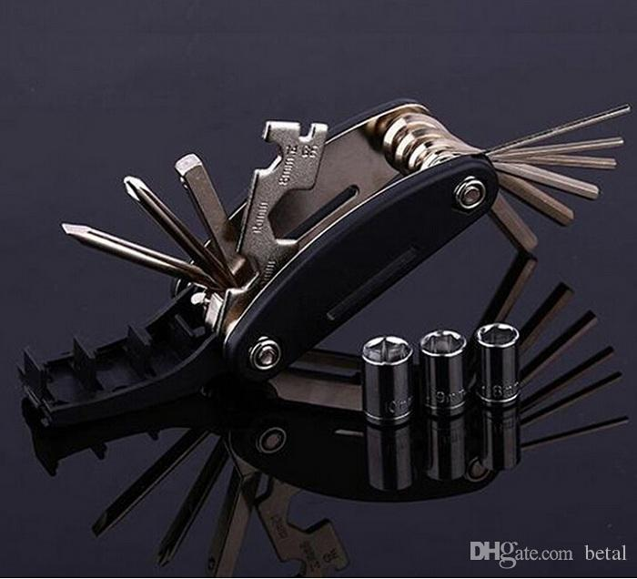 15 in 1 outain Bicycle Tools Sets Bike Bicycle Multi Repair Tool Kit Hex Spoke Wrench Mountain Cycling Screwdriver Tools