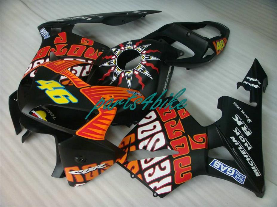Clean Repsol black 46 bodywork for Honda fairings CBR600RR 2003 2006 CBR 600RR 03 04 fairing kit CBR 600 RR VOAH