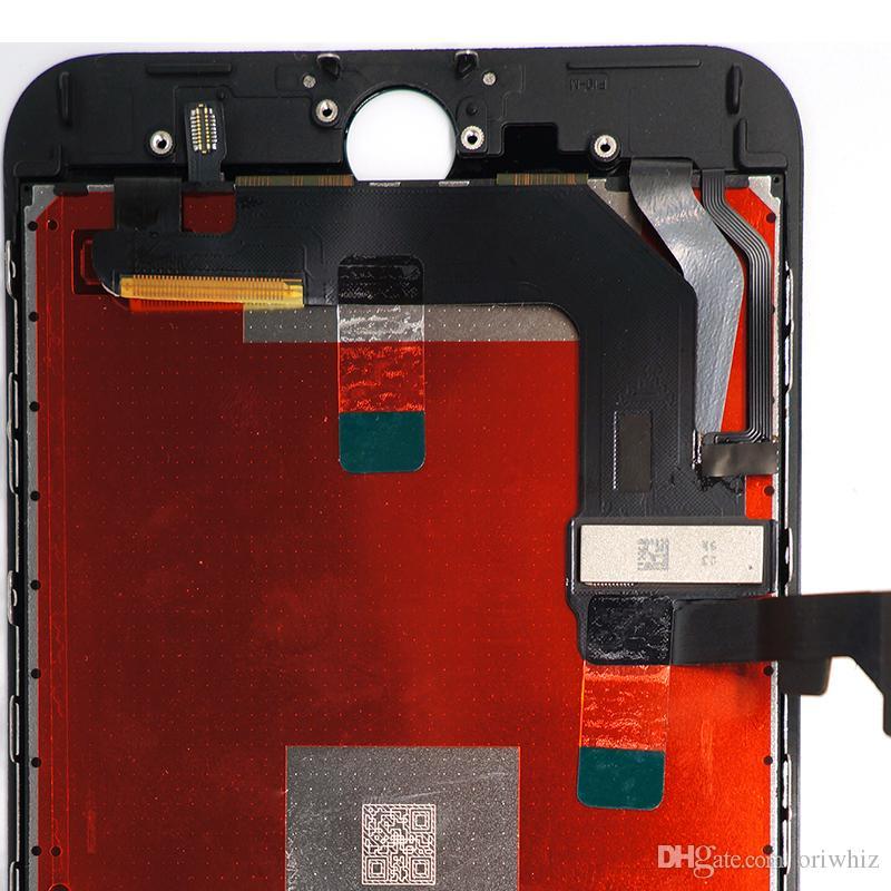 Pantalla de reemplazo de alta calidad para iPhone 8 Plus LCD Digitalizador de digitalizador Pantalla táctil Negro Blanco Color 100% Prueba de prueba Pedido Mezcla OK OK