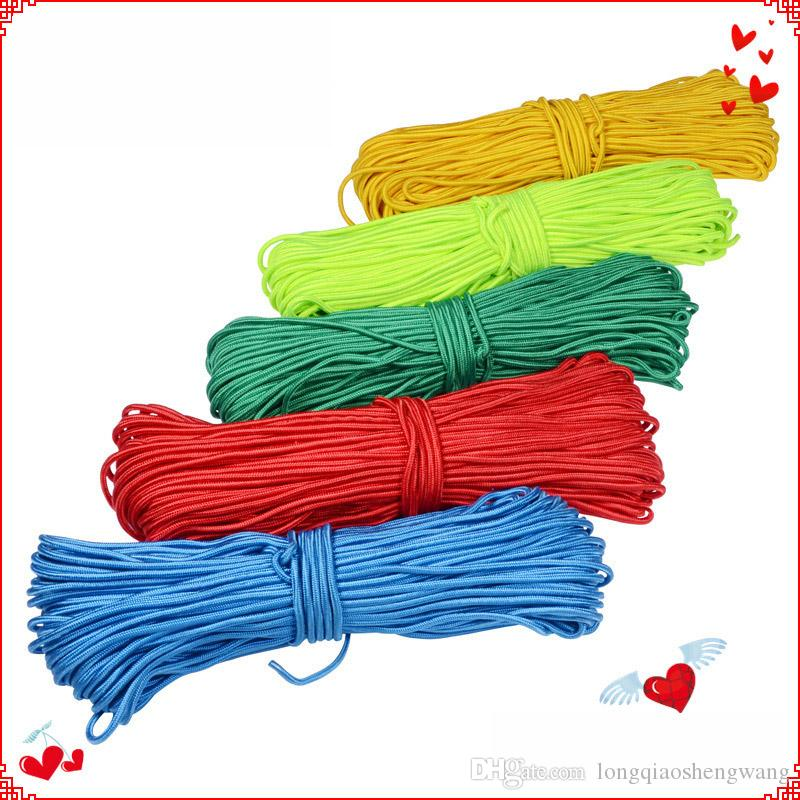 4mm-10mm multicolour Nylon Braided Rope Tent Bundled rope Outdoor multifunctional rope Can be customized free