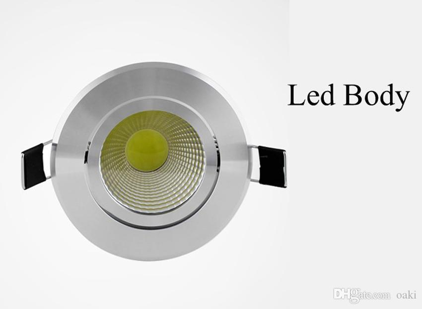 5W LED Downlight COB LED Down Light Dimmable Bulb Ceiling Lighting Recessed 100-110LM/W 3 Years Warranty Super Bright Bridgelux Chip
