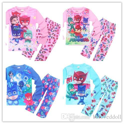 9e7dffacf3f8 3Y 9Y Children PJ Mask Pajamas Set 4style Boys And Girls Character ...