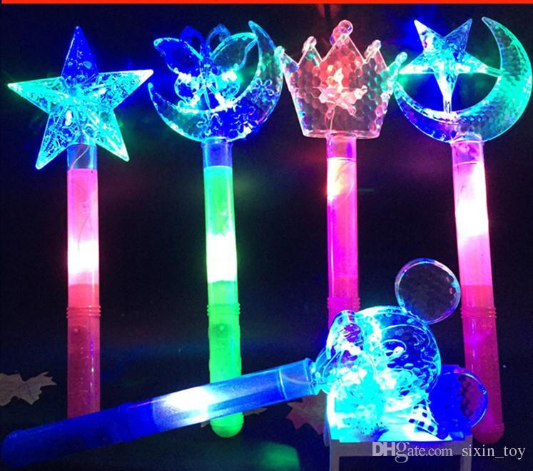 2017 Hot Sale LED Toys Christmas Kids Gift Fairy Flash Wand Magic Flashing Light Up Glow Stick DHL
