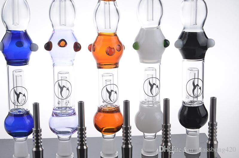 NC 2.0 Concentrate Pipe with 14.4mm Water Pipe Mini Glass bong for Oil Rigs and Dabs