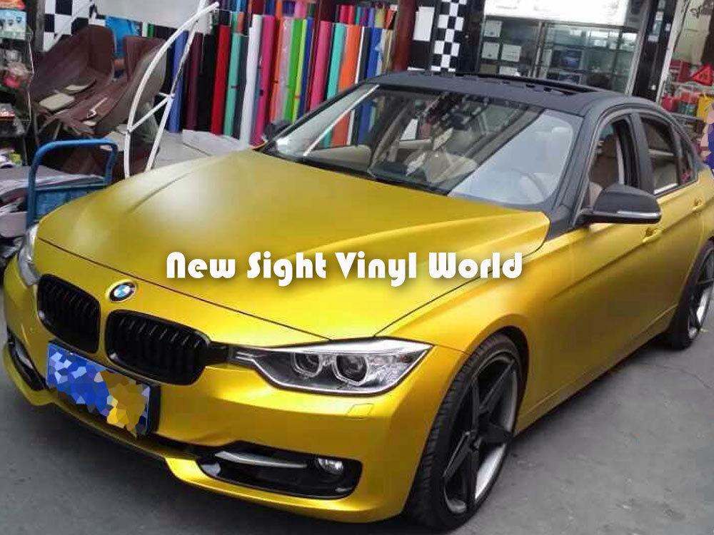 high film quality satin on metal stickers gold premium item vinyl metallic matte free in from size car motorcycles wraps com air automobiles aliexpress