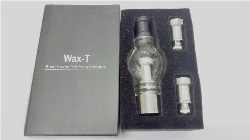 Wax atomizer glass tank Dry Herb atomizer two metal core EVA package Glass Globe 510 atomizer for ego battery dry herb vaporizer pen vapor