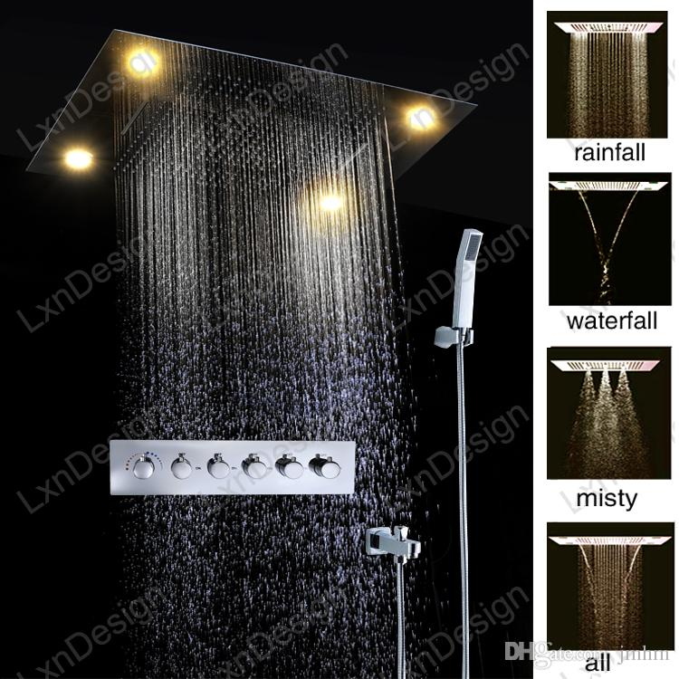 2018 2 In 1 Luxury Shower Head Sets 600*800mm Concealed Ceiling In ...