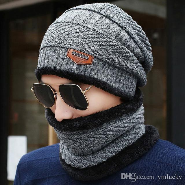 2018 New Knitted Winter Hat Scarf Beanies Knit Men S Winter Hats Caps  Skullies Bonnet For Men Women Beanie Casual Neck Warmer Baby Beanies Beanie  Hats For ... 64de3ecb4e4