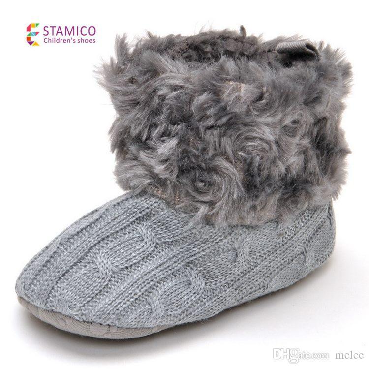Nuovo arrivo Chrsitams Baby Boots 18 paia / lotto Scarpe bambini Stivali rosa / bianco bambino neonato bambino bambina stivali scarpe australiane stivali 0-2 anni