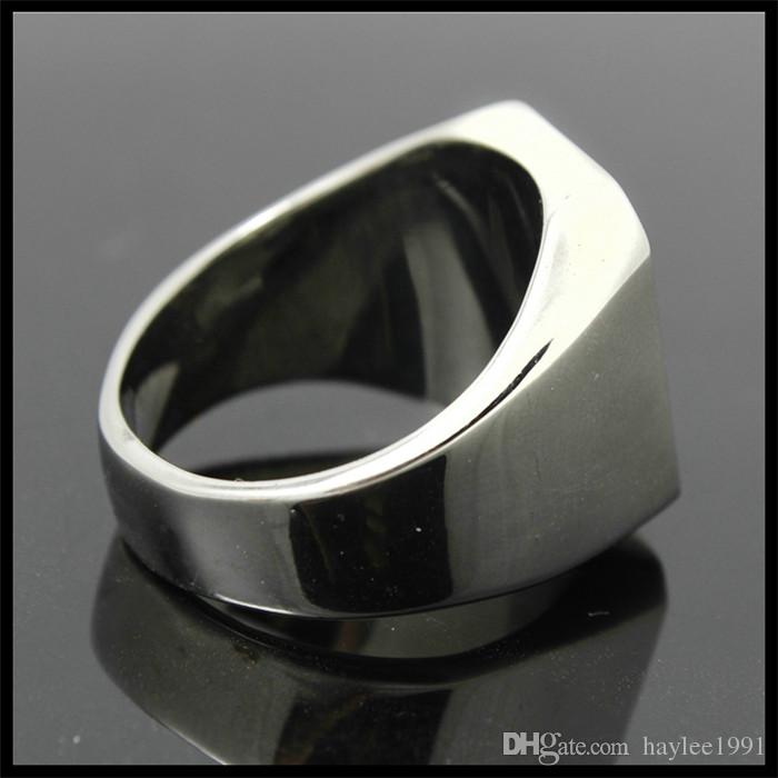 Polishing Hot Selling 316L Stainless Steel Fashion Jewelry Biker Ring