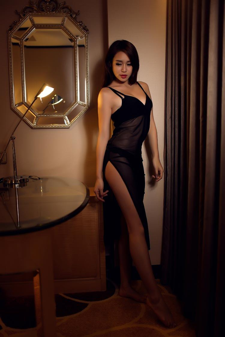 Sexy Sheer Lingerie Sleepware Long Nightgown Dress Nightware Bras ...