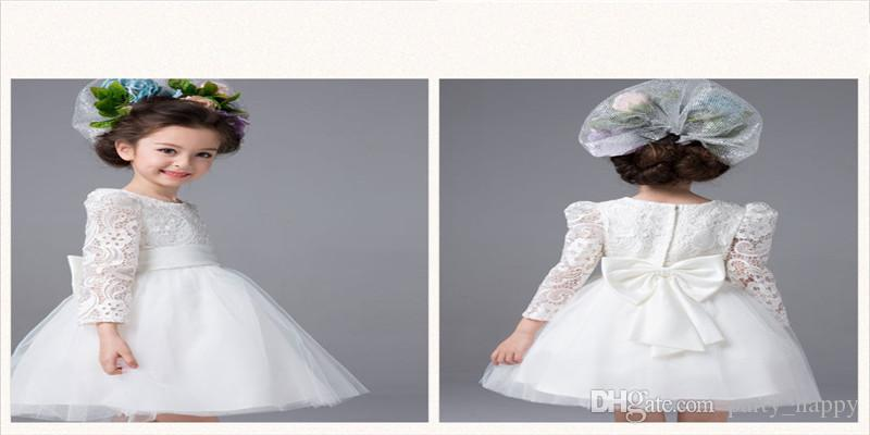 Princess Costumes Children Flower Girl Dress/Long-Sleeved Dress Skirt/Fleabane Bitter Fleabane Skirt The Princess Bridesmaid Wedding Dress