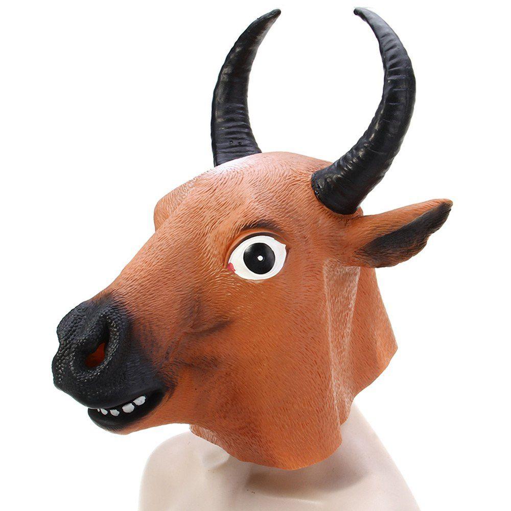 Bloodcurdling Horror Latex Buffalo Mask For Halloween Masquerade ...