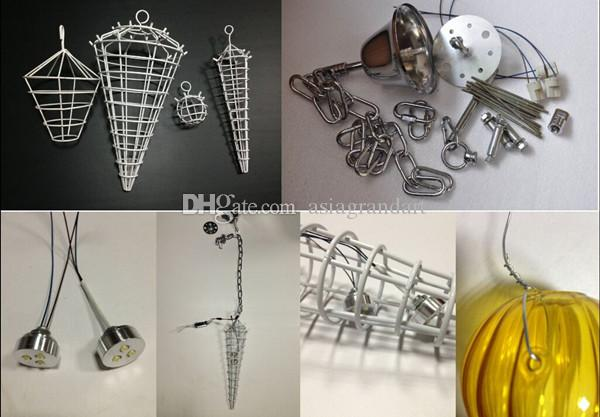 100% soplado CE UL borosilicato de Murano Dale Chihuly arte mayor de la fábrica moderna lámpara de cristal