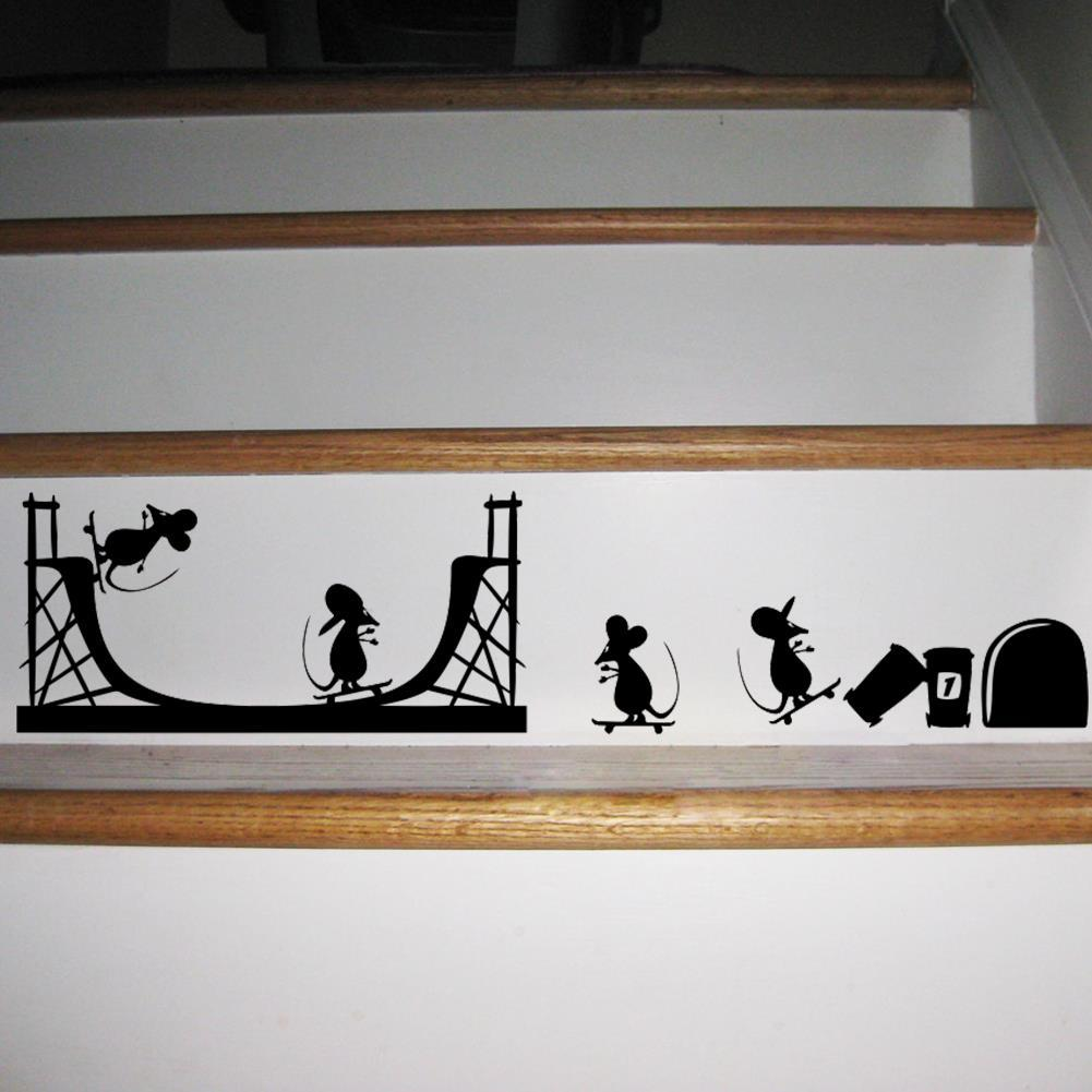 wall stickers home decor mouse hole cartoon family quotes vinyl see larger image