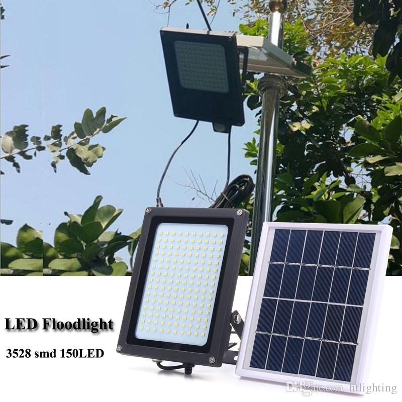 150LEDs 8W Solar Power LED Flood Light Lamp Motion Sensor Outdoor Garden Security Wall Lamp Street Light Floodlight