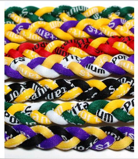3 Ropes Necklace Germanium titanium tornado braided SPORTS football baseball new 2016 Power healthy necklaces Fashion for Men Women