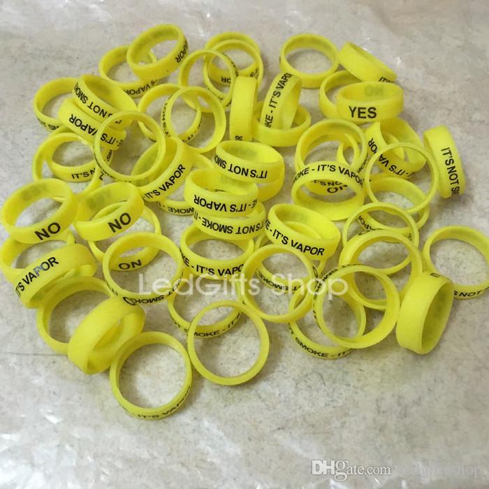 wholesale Silicon band engrave beauty ring Non-Slip Non-Skid silicone vape band for mechanical mods rba rda atomizer decorative vapor mod