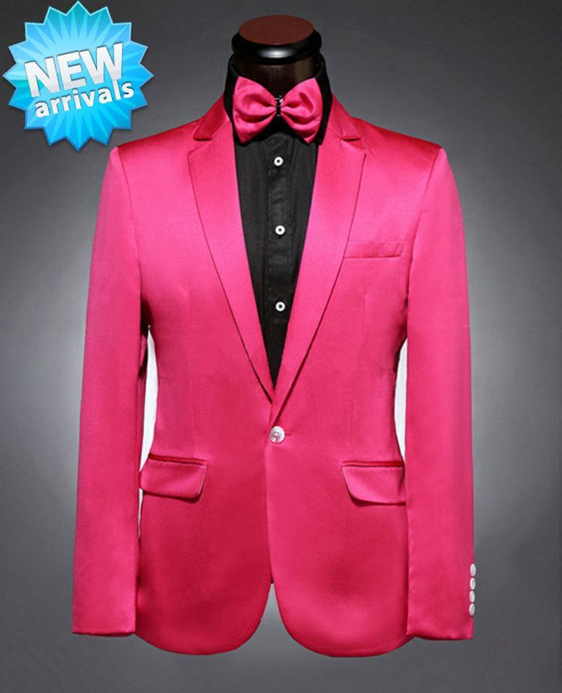 Fg1509 Compre Rosa Chaqueta Pantalones Hombres Con Traje 2015 Roja rrwdp64q