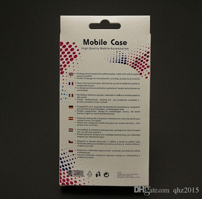 التعبئة والتغليف ورقة بيضاء / حزمة / مربع لفون 5S 6 6S 6 زائد غالاكسي S4 ملاحظة 4 الهاتف المحمول حالة جلدية غطاء DHL مجانا