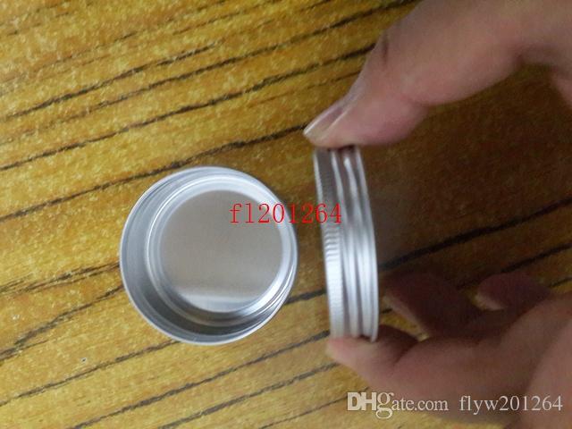 500 unids / lote envío gratis venta al por mayor 30 g 30 ml jarra de bálsamo labial cosméticos tarro vacío macetas de aluminio