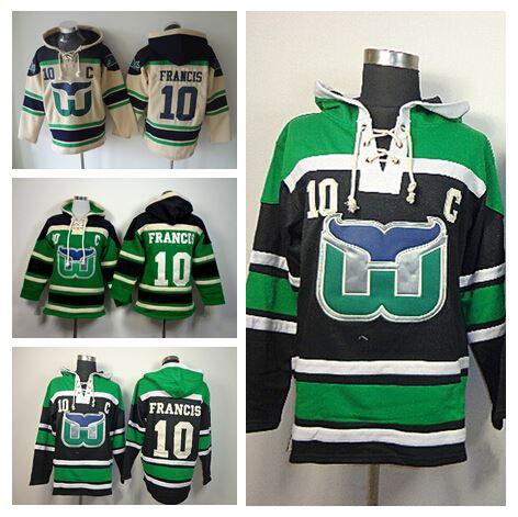 2019 Discount Hartford Whalers Francis Hoodie Pullover Ice Hockey  Sweatshirt 10 Ron Francis Old Time Hoody Men S Green Black Beige From  Since d49ea3be8