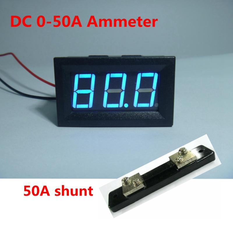 4PCS Digital DC 0-50A Ammeter Amp Panel Gauge Current Meter Four Wires 3 Digit Blue LED Display + 75mV Shunt Resistor Free Shipping  sc 1 st  DHgate.com : ammeter gauge wiring - yogabreezes.com