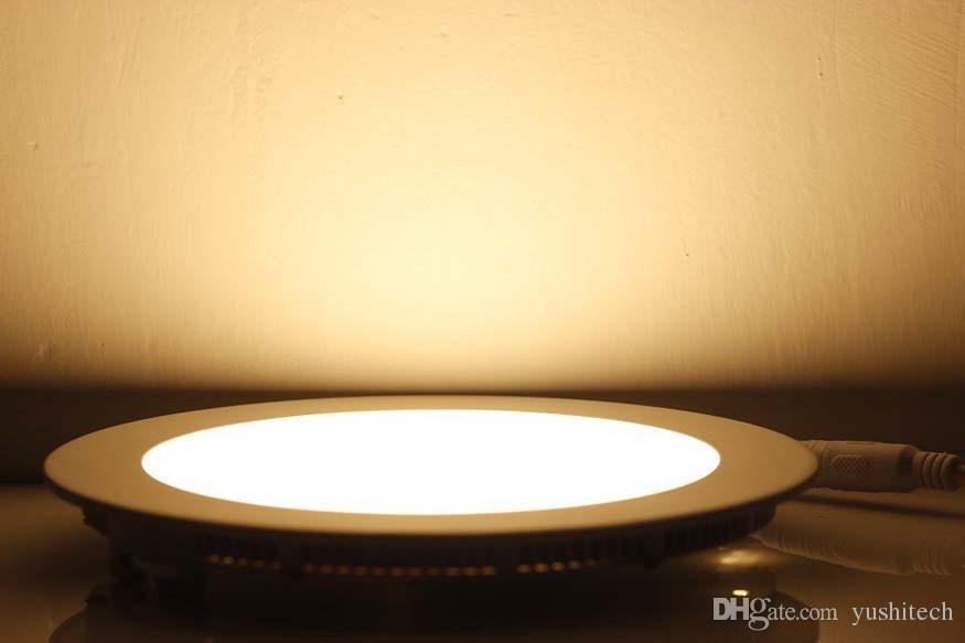 Kısılabilir AC85-265V LED Aşağı Işık 9 W / 12 W / 15 W / 18 W / 21 W Yuvarlak Kare LED Tavan Işık Paneli Gömme Lamba Sıcak Beyaz / Soğuk Beyaz