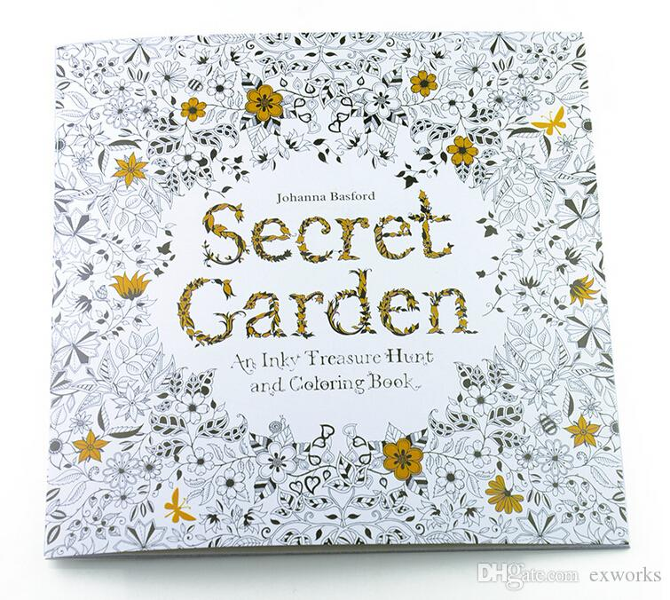 Lost Ocean Secret Garden An Inky Treasure Hunt And Coloring Book For Children Adult Relieve Stress Kill Time Graffiti Painting Drawing Kid