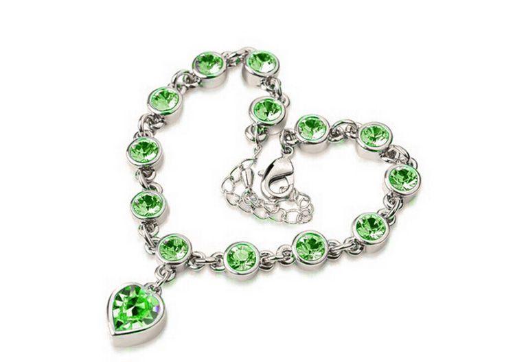 Pulsera de cristal austriaco personalizado en forma de corazón pulseras Hight Quality joyería de las mujeres mejor regalo para mujeres joyería de la boda 8199