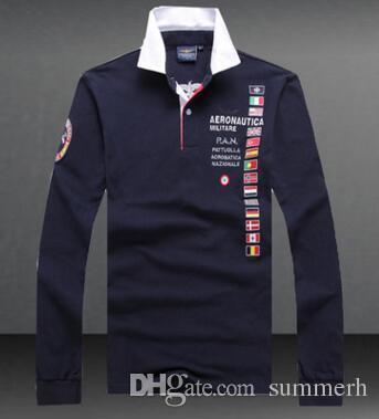 Air Force One Polo Shirts Aeronautica Militare Army Men s Long ... b34d6da1b