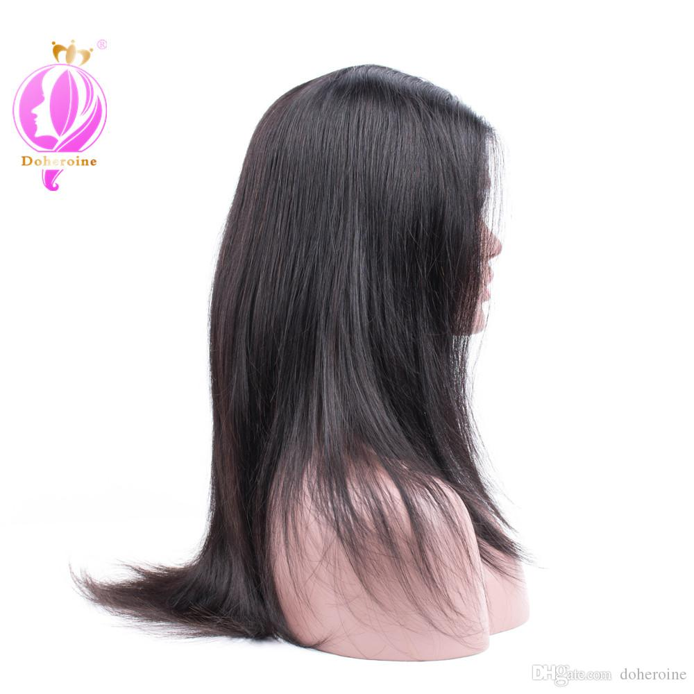 "Doheroine 150% Density Straight Human Hair Lace Front Wigs For Black Women Non Remy 10""-20"" No Tangle and Shed Hair Wholesale price"