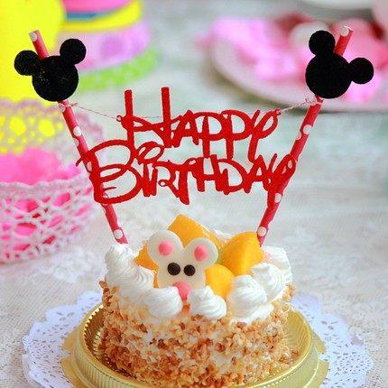 2017 Hot Sale Mickey Mouse Happy Birthday Letter Garland Cake