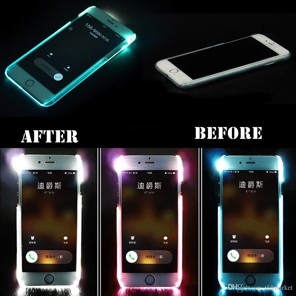 iphone led case new luxury led flash light up incoming call remind 7593