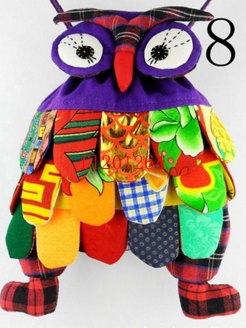15 шт./лот Fedex DHL Ems Бесплатная доставка новая мода ручной сова сумка / ручной работы ремесло сова сумка / дети рюкзак ранец