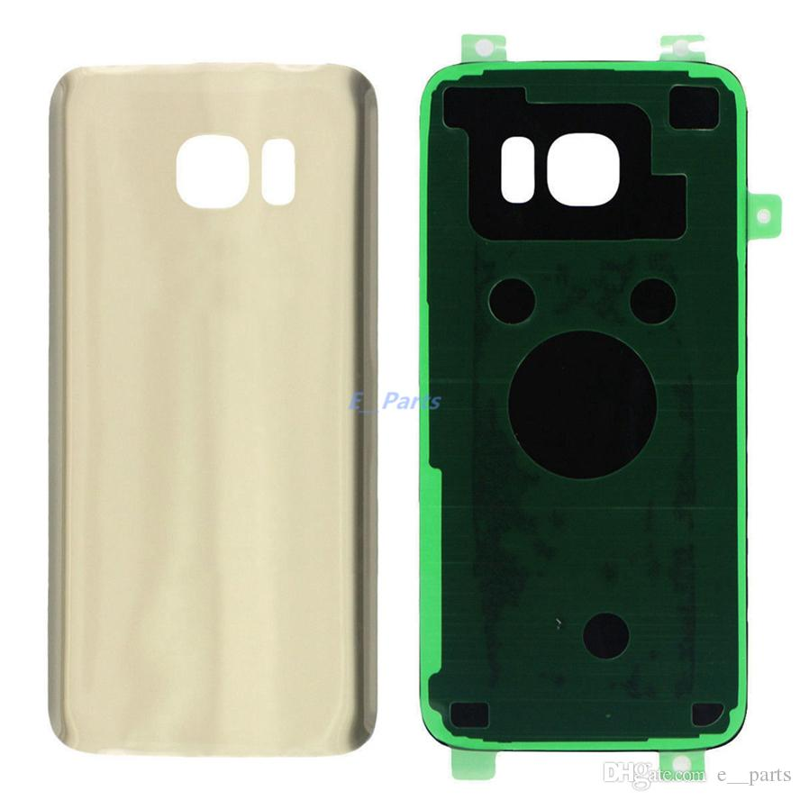 100% Original For Samsung Galaxy S7 G930F/S7 EDGE G935F Rear Glass Housing battery cover door with Adhesive Sticker Free fast DHL