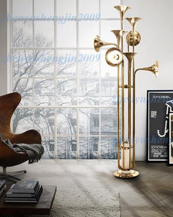 Delightfull botti zemin lambası oturma odası otel lamba oturma odası Trompet Şekli zemin aydınlatma nordic tasarım yenilik ışık