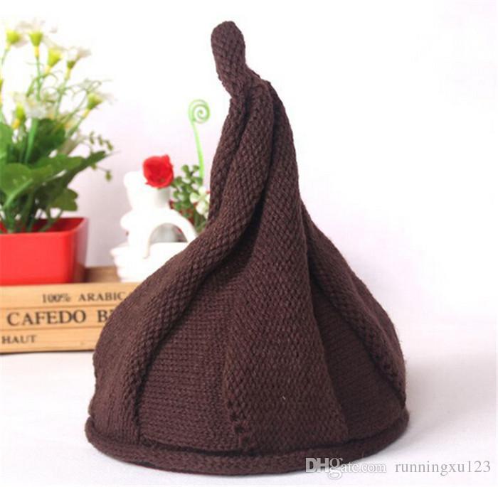 Mode 10 Farben Kinder Caps warme Mütze Crochet Hüte Beanie Caps Kinder Hüte Jungen Mädchen Wollmütze Baby Mütze gestrickte Winter Caps D473